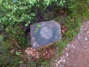 spiral guiding stone 13